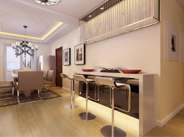 简约 现代 四居 餐厅图片来自居然元洲装饰小杨在上林世家四居现代风格的分享