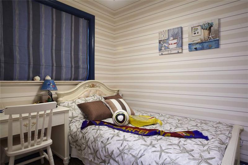 地中海 卧室图片来自四川幸福魔方装饰在旺府凯旋门 92平  套三的分享