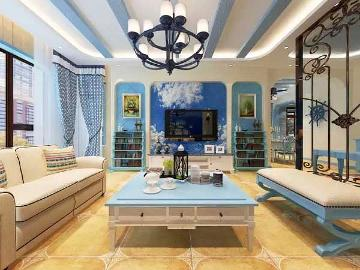 锦桂苑115平地中海风格房子装修