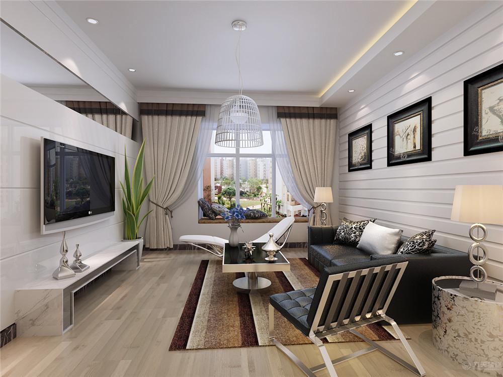 简约 现代 二居 收纳 80后 客厅图片来自阳光力天装饰在现代简约   首创城  91㎡的分享