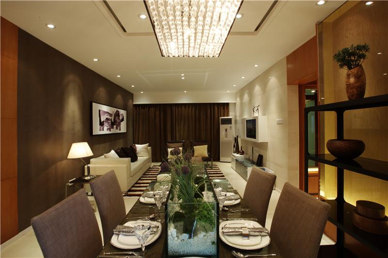 现代简约 餐厅图片来自四川幸福魔方装饰在河畔新世界-三居室的分享