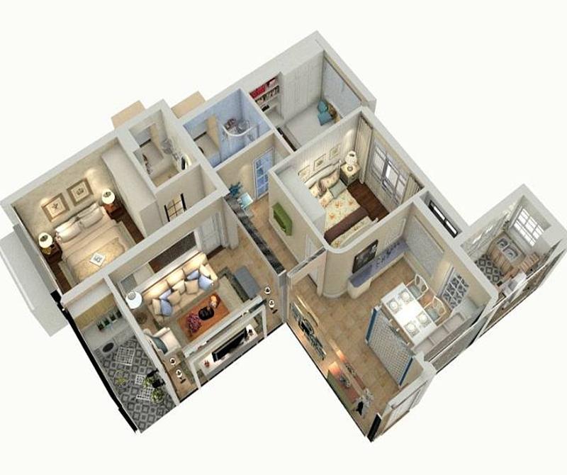 户型图图片来自cdxblzs在弗客城  84方 日式 两居的分享