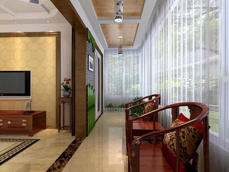 客厅图片来自北京居然元洲装饰小尼在复式结构中式风格,原木风格的分享