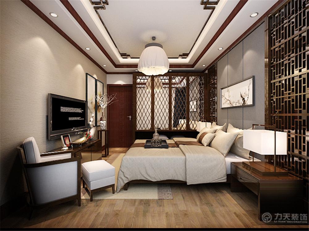 中式 白领 收纳 80后 小资 卧室图片来自阳光力天装饰在中式风格 中信公园城 88㎡的分享