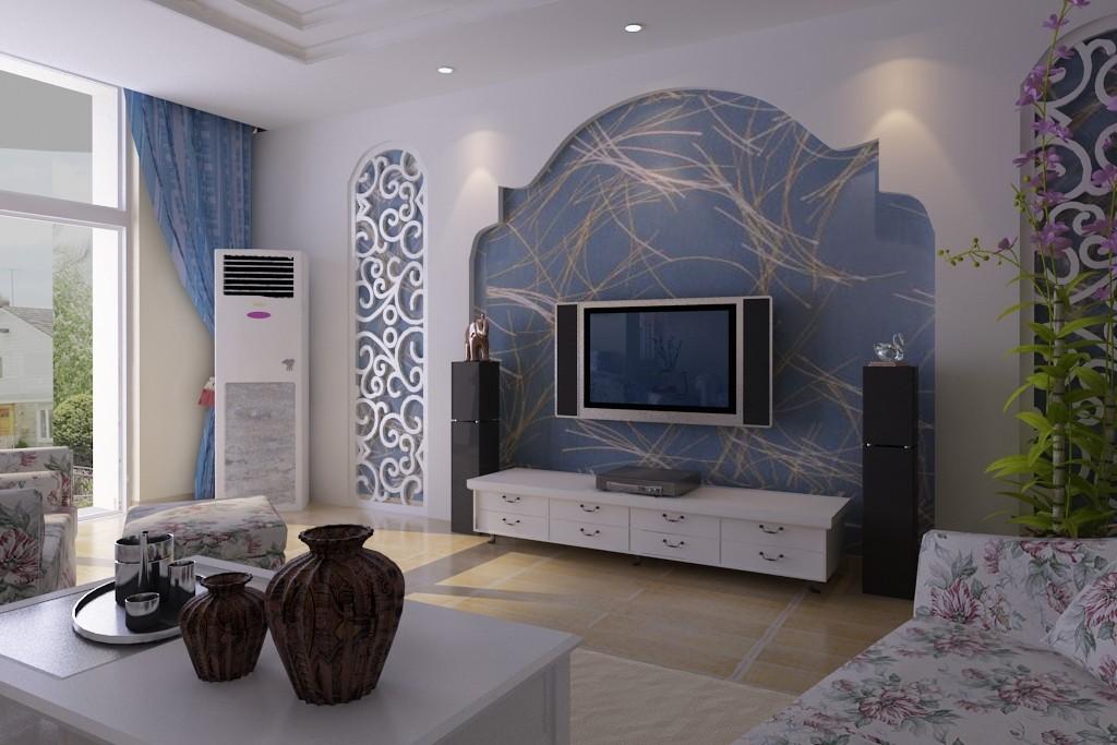 客厅图片来自北京居然元洲装饰小尼在叠拼别墅250平米地中海现代混搭的分享