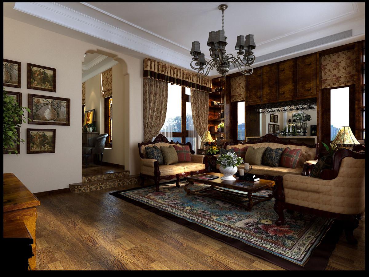 复式 美式 别墅装修 客厅图片来自北京居然元洲装饰小尼在245美式风格,享受自在惬意生活的分享