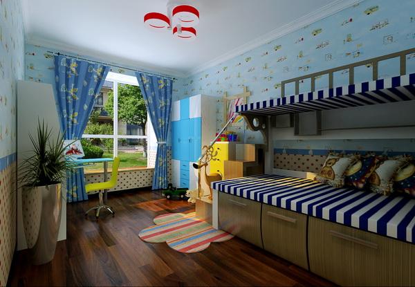 欧式 四居 小资 儿童房图片来自居然元洲装饰小杨在160平蓝湾小镇欧式风格的分享