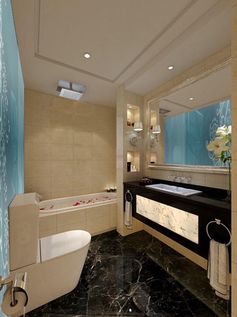 卫生间图片来自四川幸福魔方装饰在金茂悦龙山-现代中式的分享