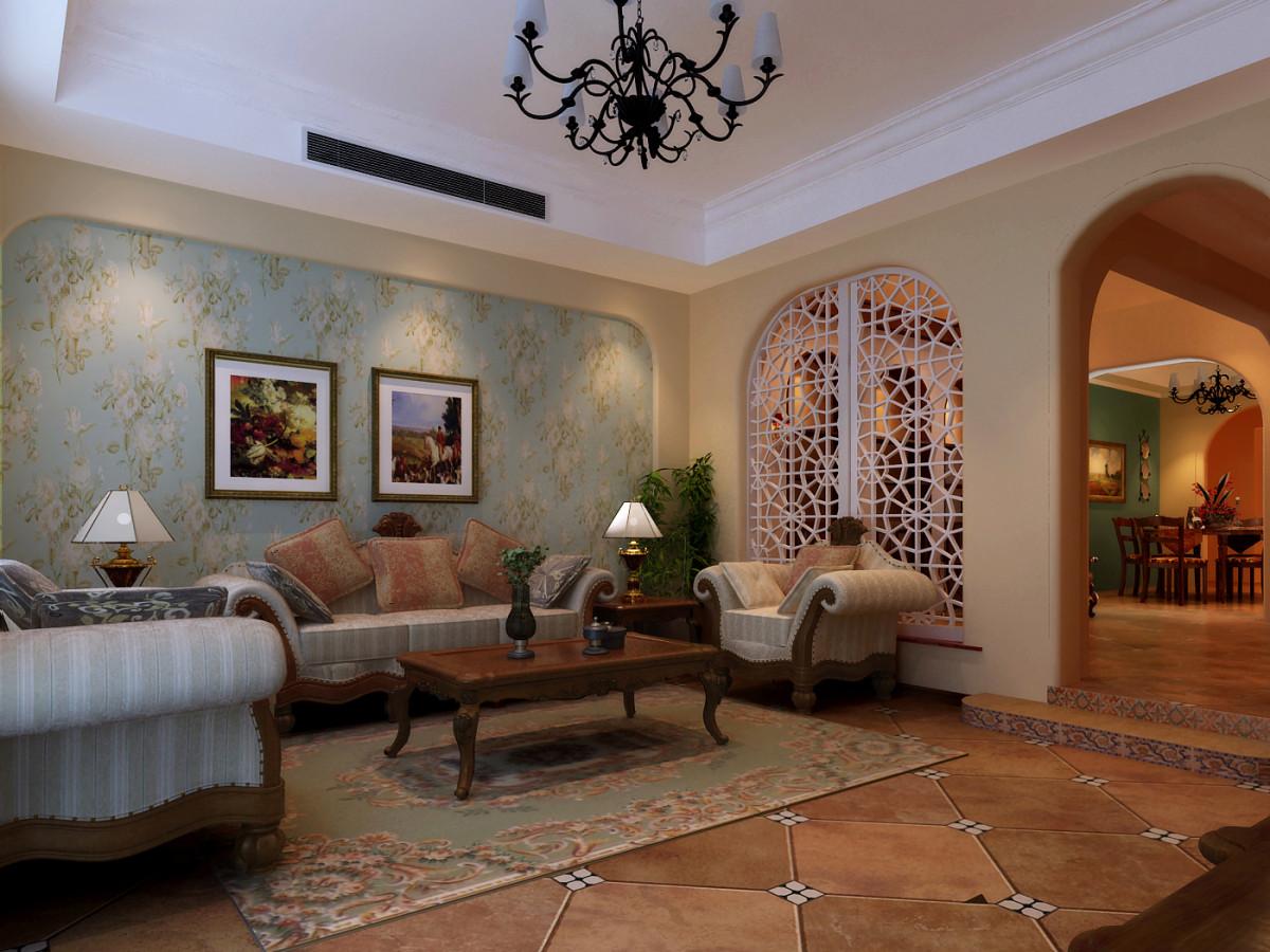 复式 美式风格 别墅装修 客厅图片来自北京居然元洲装饰小尼在美式乡村,休闲舒适的分享