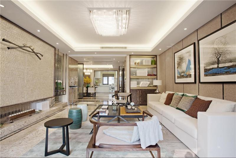 客厅图片来自四川幸福魔方装饰在棠湖泊林城-四居室的分享