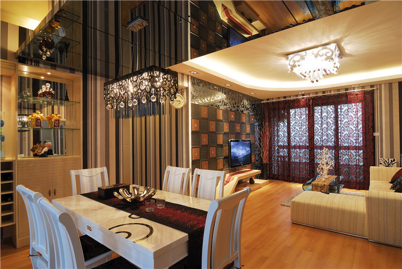 现代简约 餐厅图片来自四川幸福魔方装饰在戛纳湾金棕榈-现代简约的分享