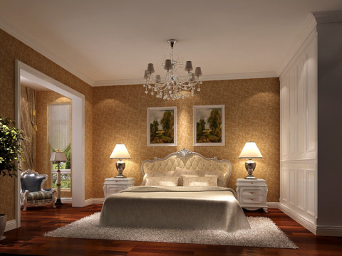 卧室图片来自武汉欣绿康装饰-在欧式风格实景照的分享