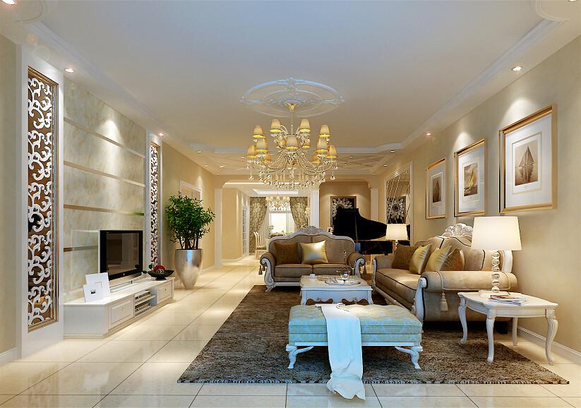 欧式 四局 欧式风格 装修设计 客厅图片来自北京居然元洲装饰小尼在蓝天嘉园简约欧式风格的分享
