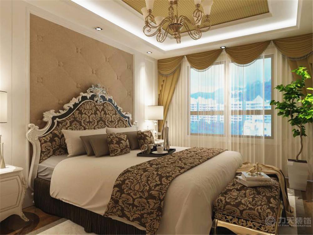 欧式 简约 三居 小资 80后 床 床头背景 卧室图片来自阳光力天装饰在简欧风格   松江城  134㎡的分享