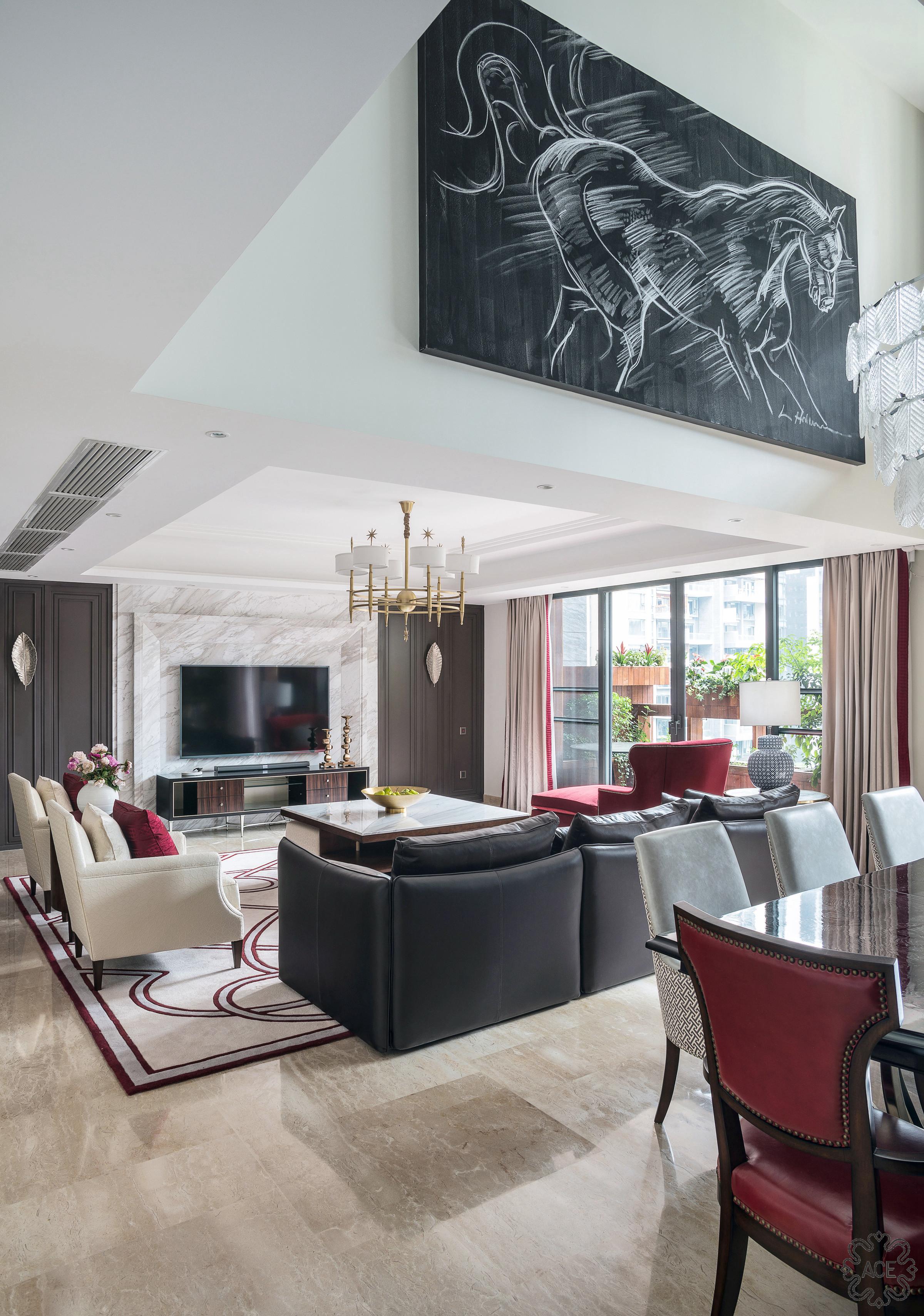 精装房改造 优雅住宅 气质 沉稳 餐厅图片来自谢辉室内定制设计服务机构在家之新颜的分享