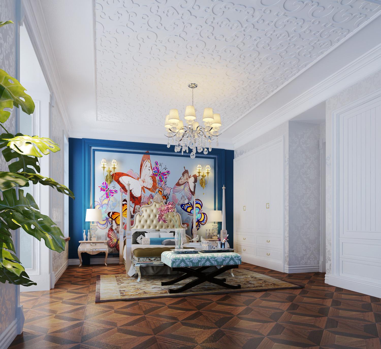 法式风格 别墅装修 装修设计 梵客家装 装修公司 卧室图片来自天津梵客家装实景体验馆在210平浪漫法式风格 仁爱团泊湖的分享