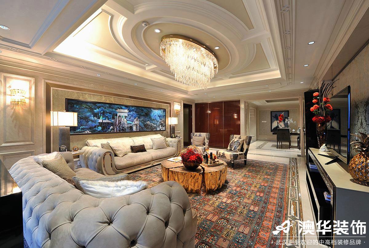 客厅图片来自澳华装饰有限公司在华润翡翠城新古典风格的分享
