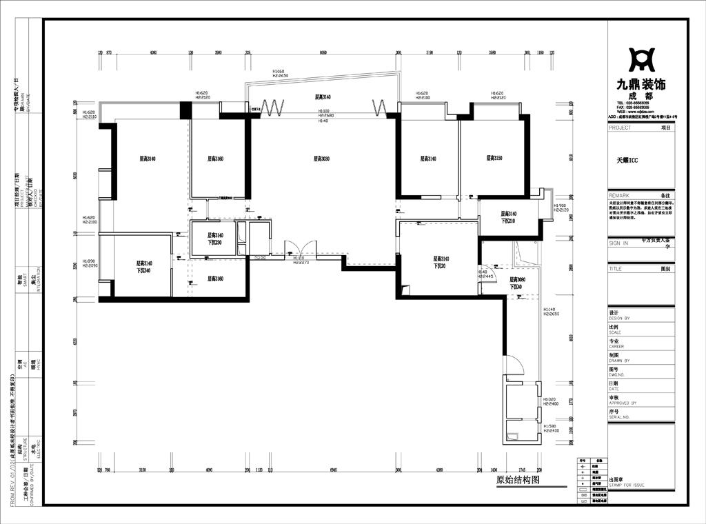 简约 现代 四居 小资 户型图图片来自九鼎建筑装饰工程有限公司成都分在天耀ICC现代简约风的分享