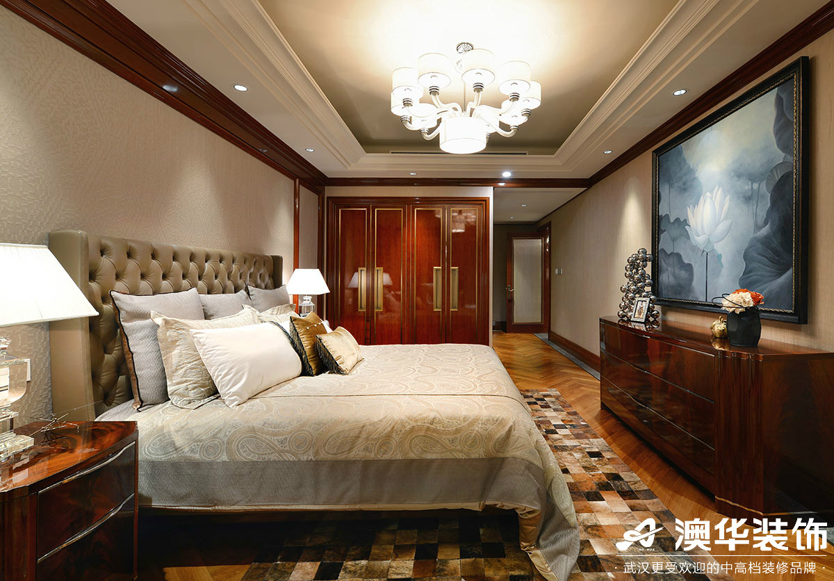 卧室图片来自澳华装饰有限公司在华润翡翠城新古典风格的分享