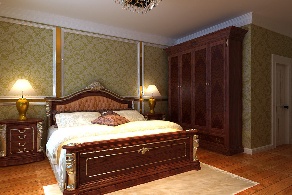 卧室图片来自北京居然元洲装饰小尼在北辰香麓210平米欧式风格的分享