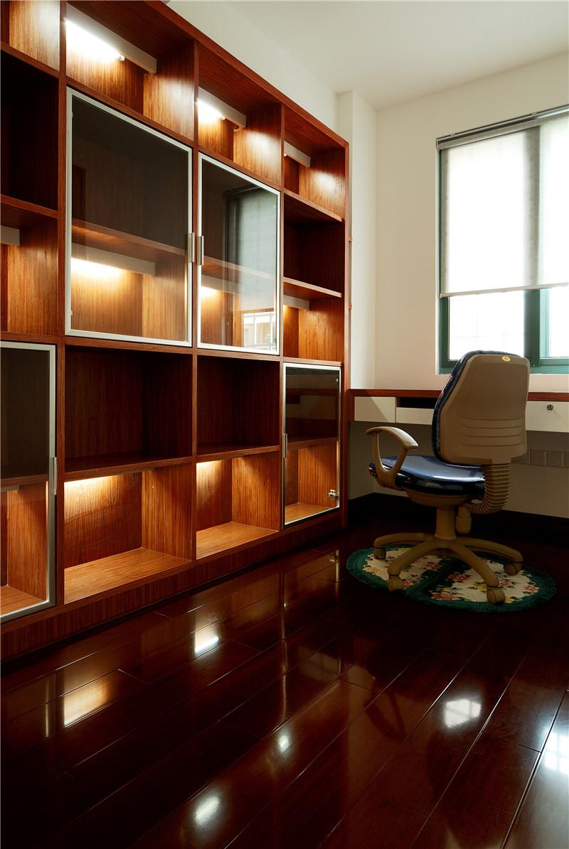 书房图片来自四川幸福魔方装饰在中德英伦联邦-田园风格-四居室的分享