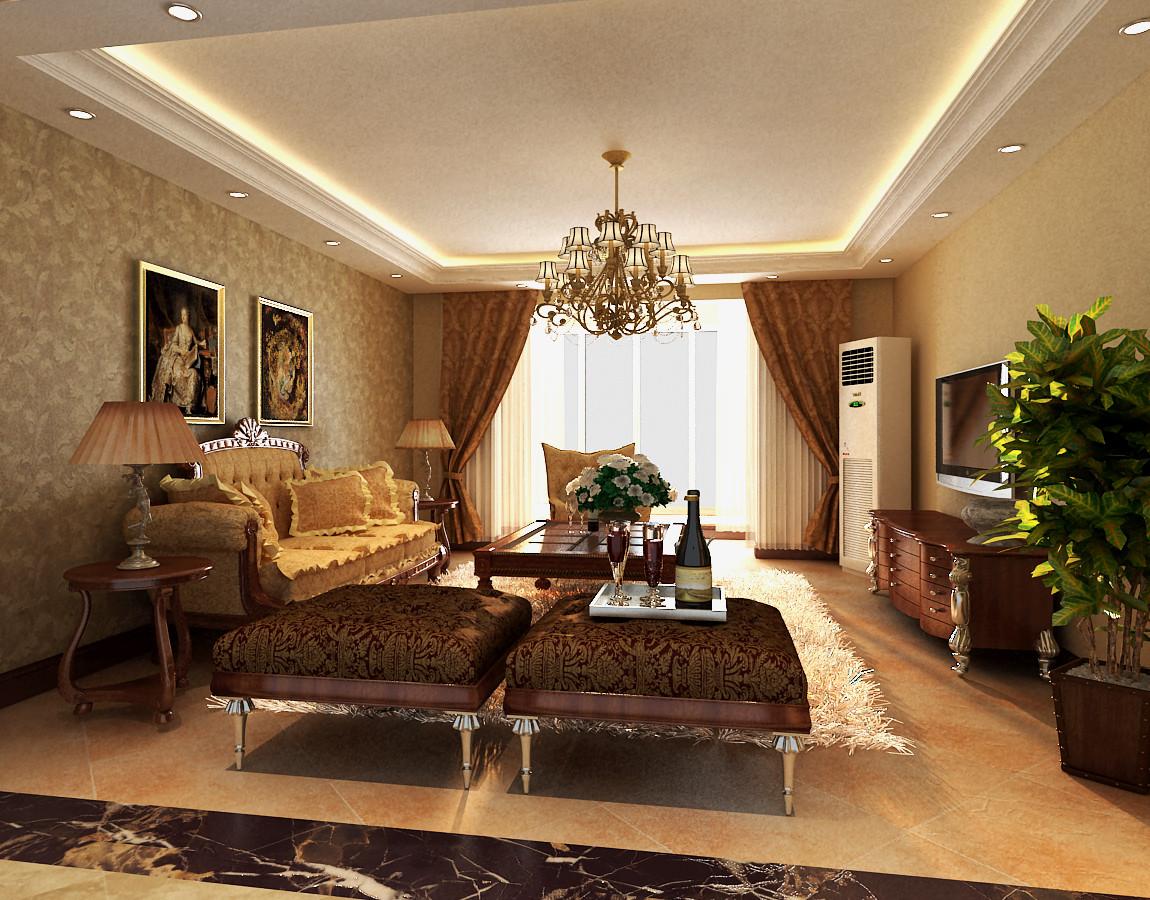 别墅 欧式 别墅装修 客厅图片来自北京居然元洲装饰小尼在华贸城205平简约时尚大居室的分享