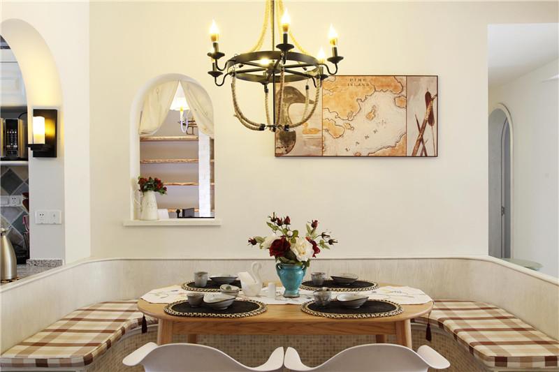 地中海 餐厅图片来自四川幸福魔方装饰在戛纳湾金棕榈-地中海套三的分享