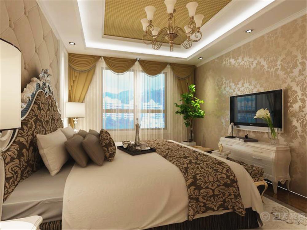 欧式 简约 三居 小资 80后 壁纸 吊顶 卧室图片来自阳光力天装饰在简欧风格   松江城  134㎡的分享