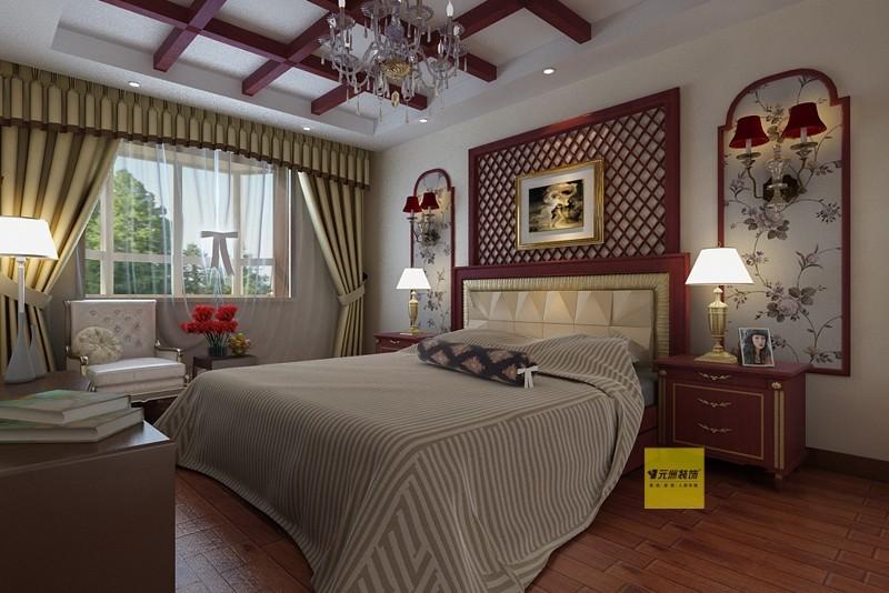 混搭 三居 国奥媒体村 卧室图片来自北京居然元洲装饰小尼在新中式地中海混搭三居的分享