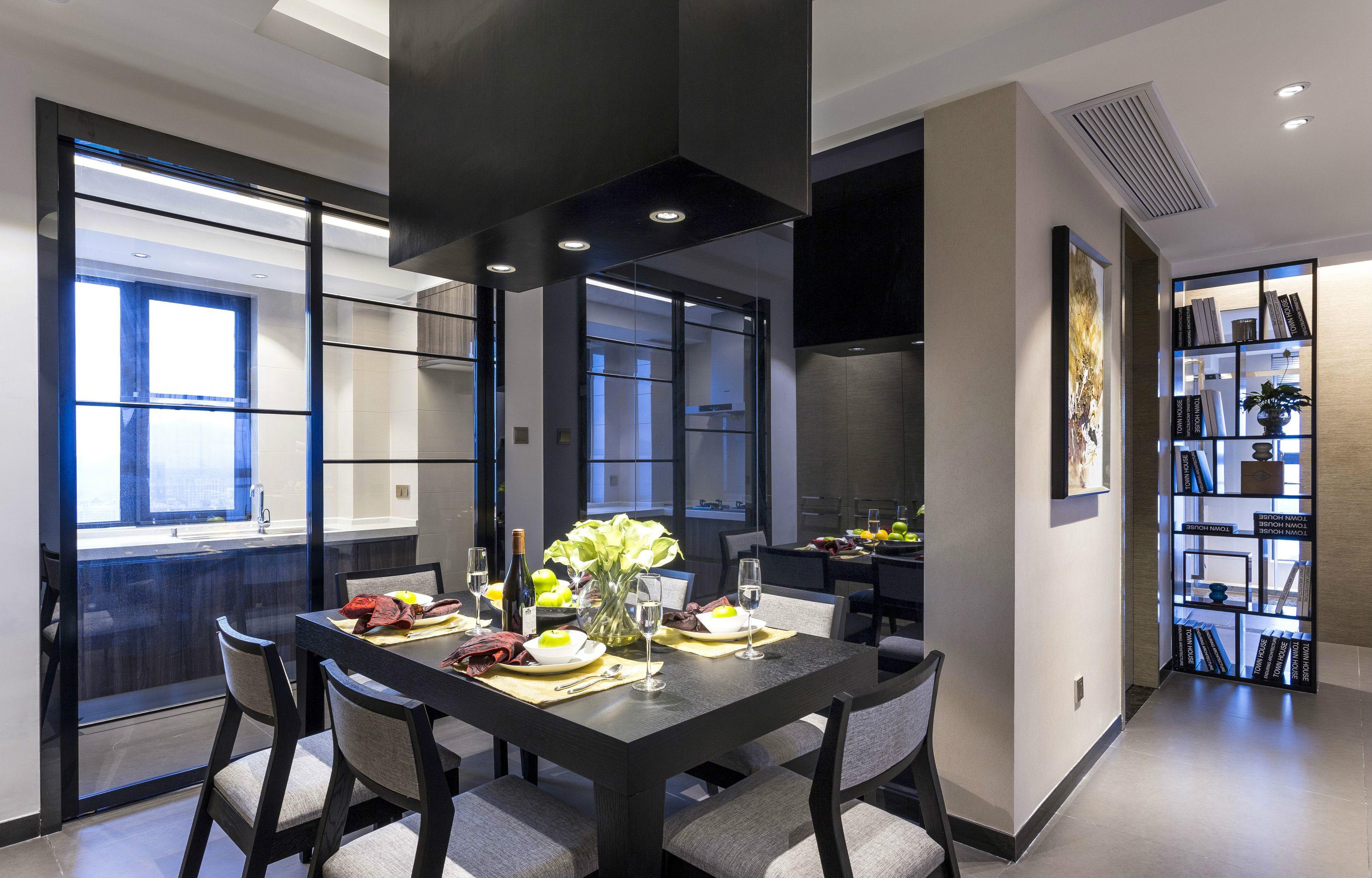 餐厅图片来自澳华装饰有限公司在金地雄楚1号现代风格的分享