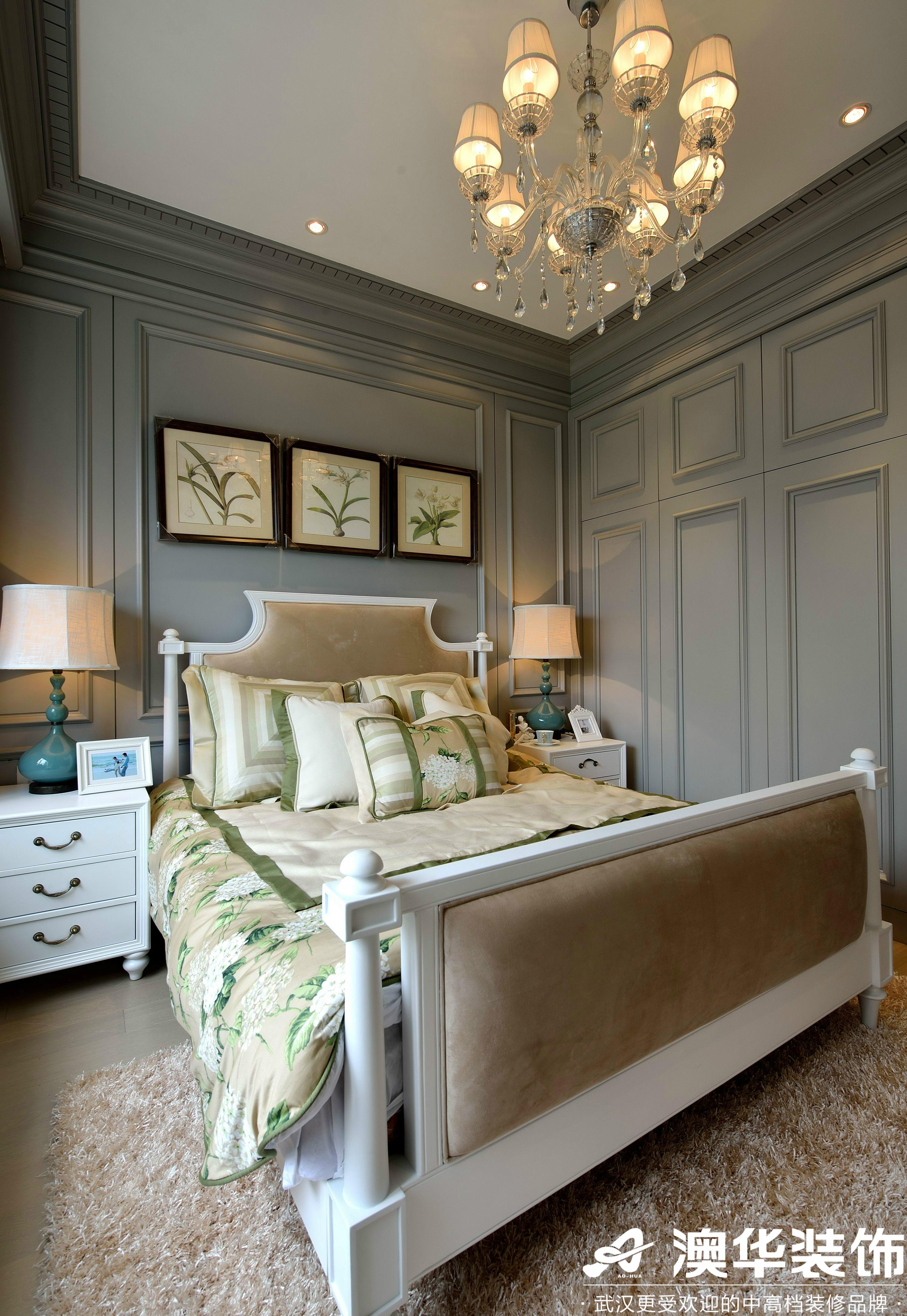 卧室图片来自澳华装饰有限公司在华侨城·美式风格的分享
