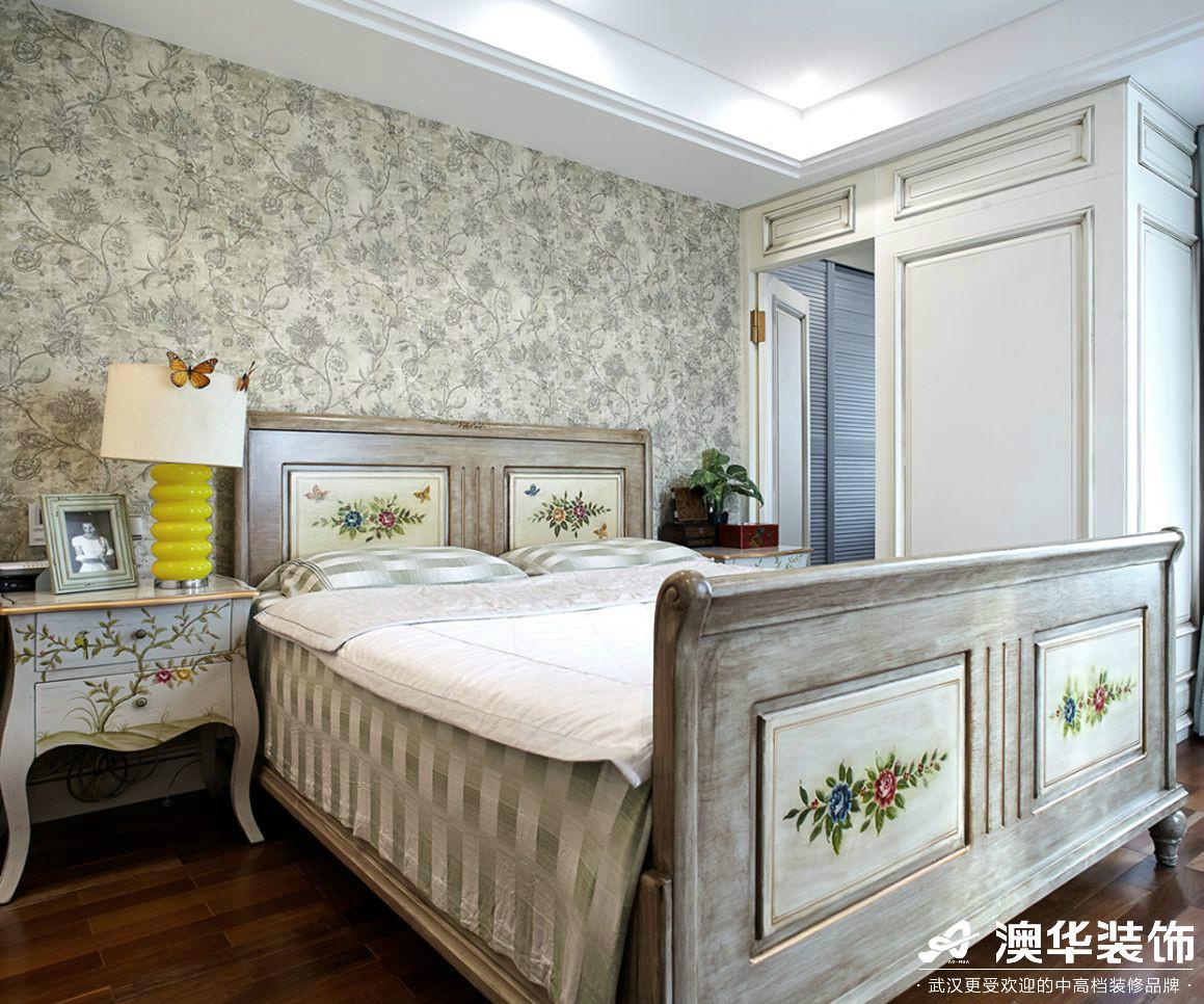 卧室图片来自澳华装饰有限公司在汉口湖畔美式风格的分享