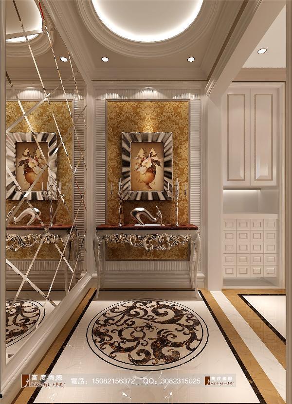 和泓半山门厅细节效果图--成都高度国际装饰设计
