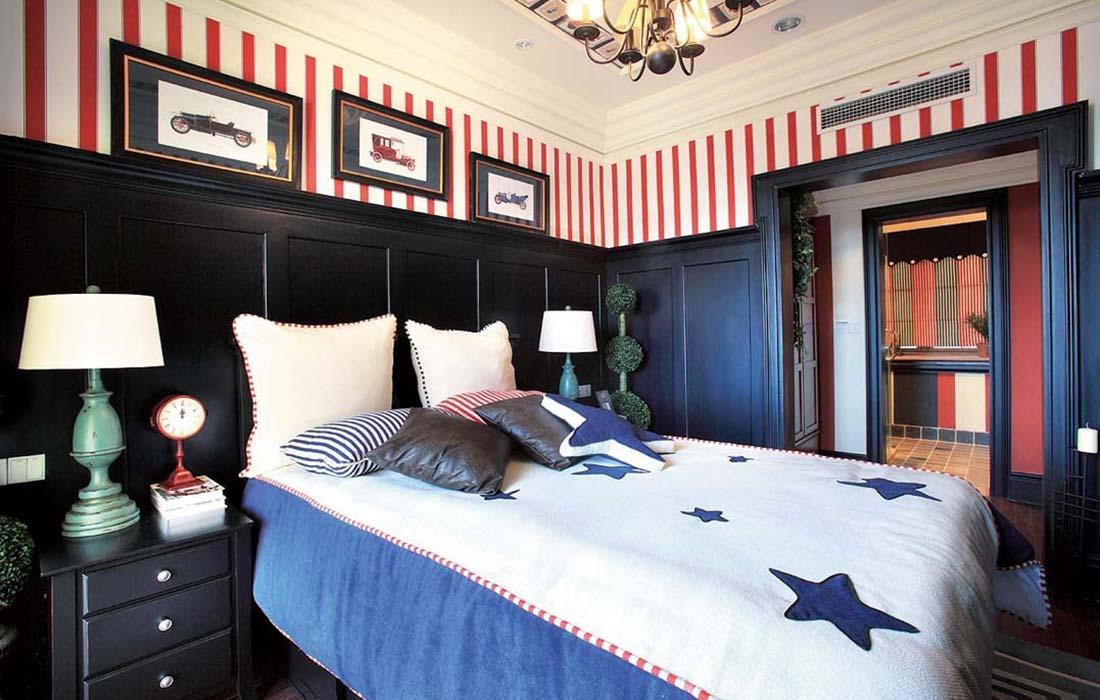 复式 地中海 浪漫 自由 卧室图片来自重庆天地和豪装工厂店在自然浪漫的地中海风格的分享