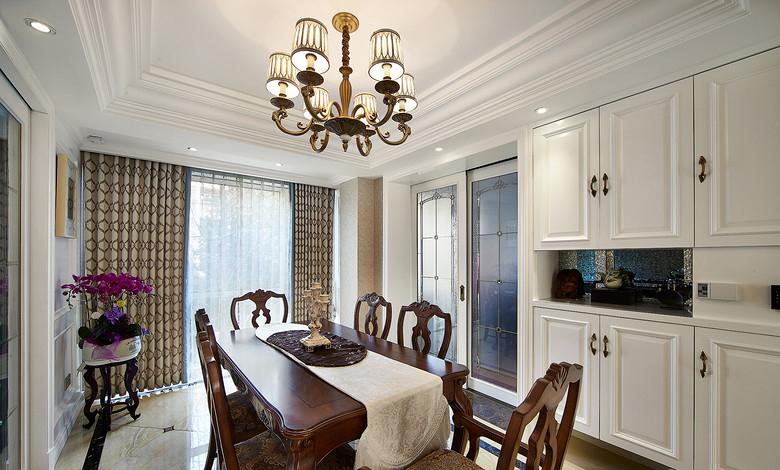 餐厅图片来自家装大管家在充满小资格调 130平美式温馨3居的分享