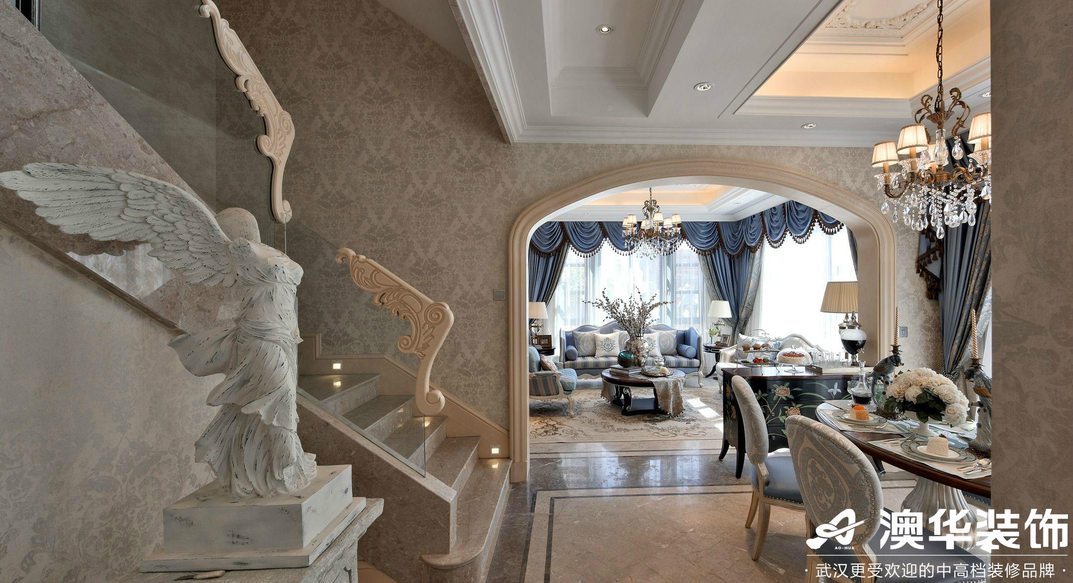 楼梯图片来自澳华装饰有限公司在世茂林屿岸·法式风格的分享