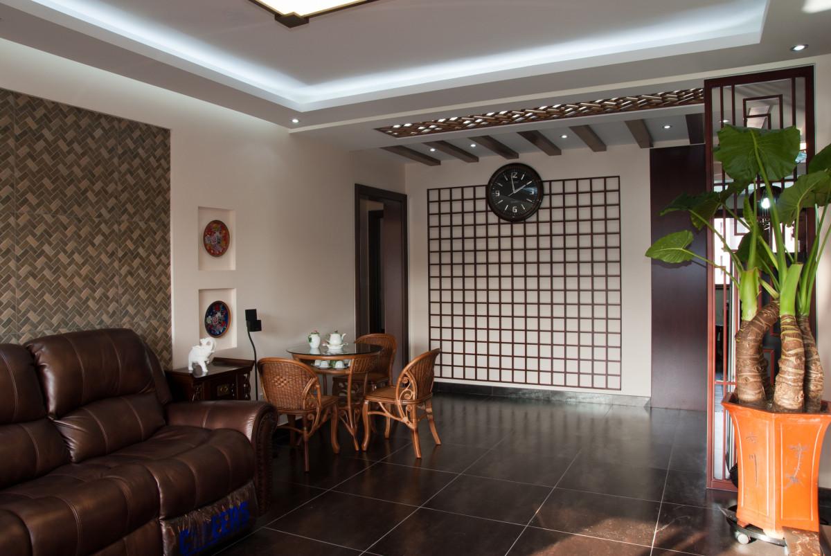 客厅图片来自北京居然元洲装饰小尼在万科中粮假日风景新中式实景的分享