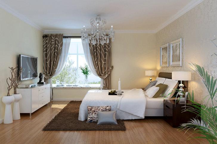 简约 二居 公园悦府 摩登 卧室图片来自业之峰装饰旗舰店在摩登生活的分享