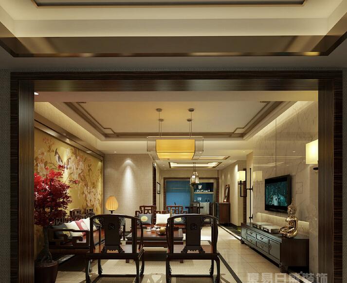 新中式 白领 收纳 小资 客厅图片来自武汉东易日盛在百步亭花园-祝猛-新中式的分享