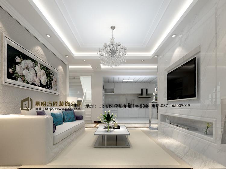 简约 欧式 跃层 客厅图片来自fy18788527513在滇池橡尚小区  简欧风格的分享