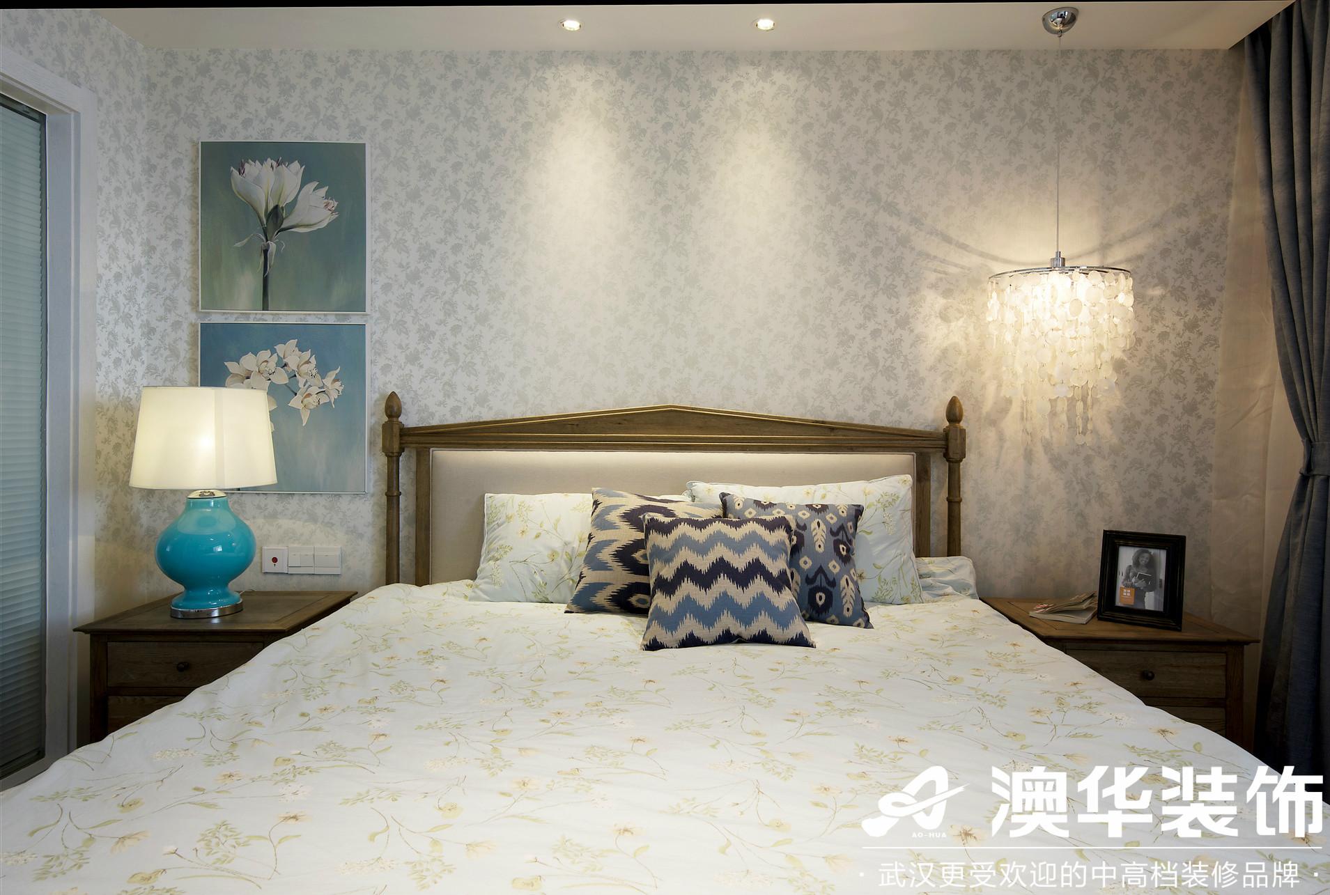 卧室图片来自澳华装饰有限公司在远洋世界剑桥郡美式风格的分享