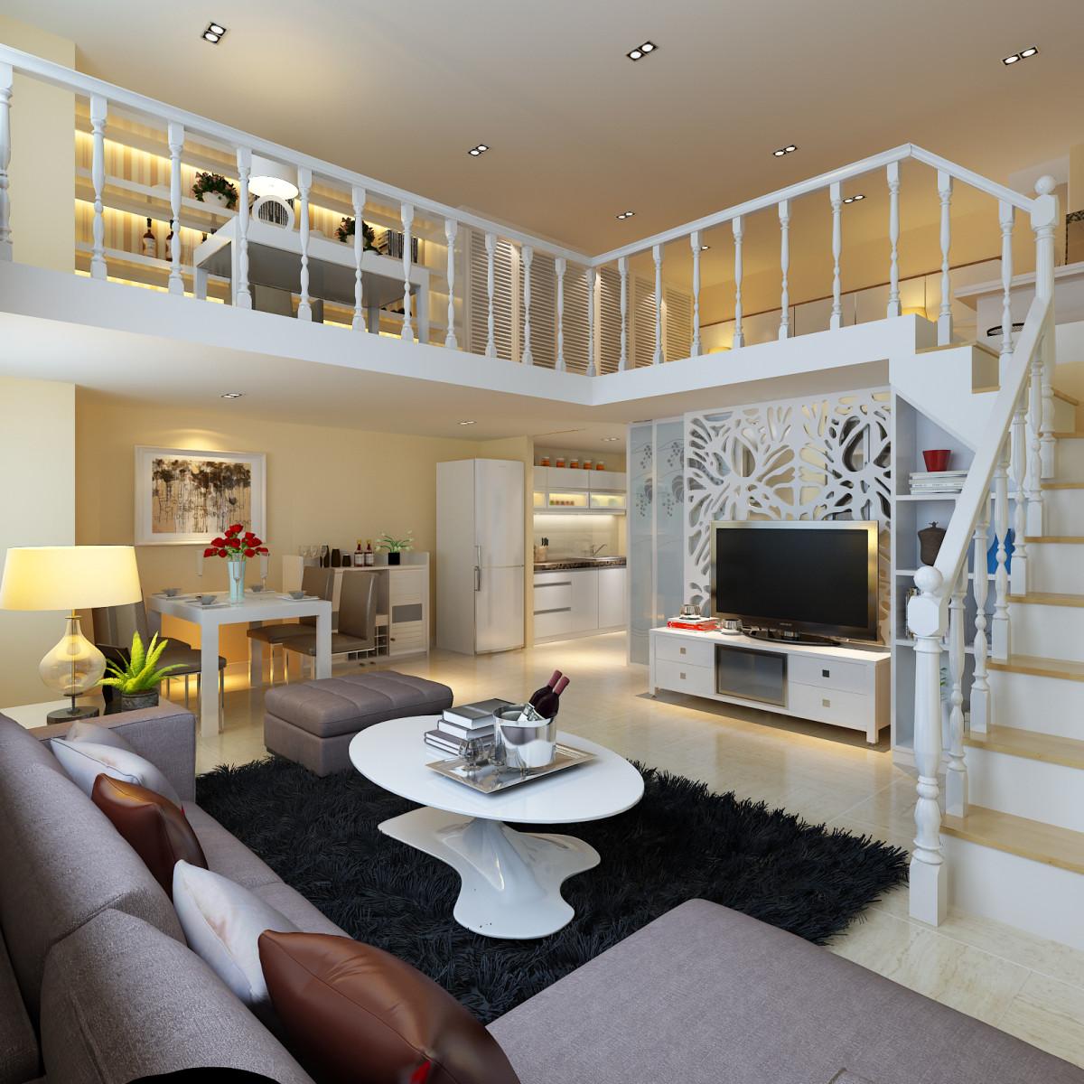 客厅图片来自北京居然元洲装饰小尼在北京城建n次方loft欧式风格的分享