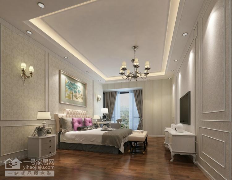欧式 别墅 卧室图片来自武汉一号家居在保利橡树十二庄园214平效果图的分享