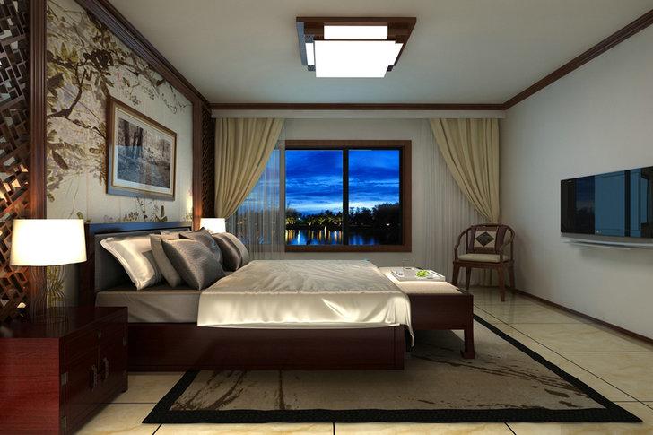 新中式风格 卧室图片来自业之峰装饰旗舰店在倚兰听荷的分享