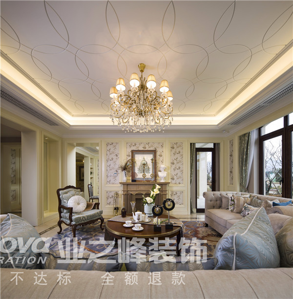 法式 太原业之峰 四居 客厅图片来自太原业之峰小李在万达公馆法式风格设计装饰效果图的分享