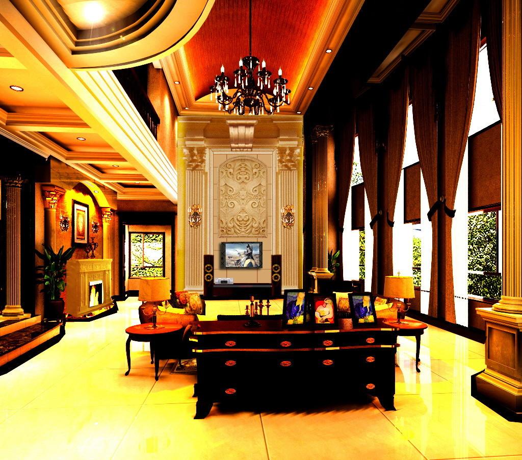 欧式 别墅 东方普罗旺 别墅装修 客厅图片来自北京居然元洲装饰小尼在东方普罗旺斯古典欧式尽显大气的分享
