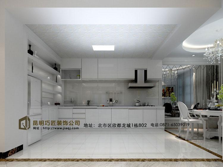 简约 欧式 跃层 厨房图片来自fy18788527513在滇池橡尚小区  简欧风格的分享