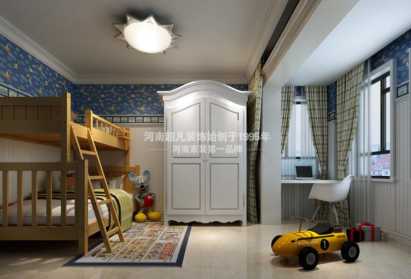 欧式 四居室 海马公园 简欧风格 小资 儿童房图片来自郑州最好的装修公司-河南超凡在海马公园220平户型装修效果图的分享