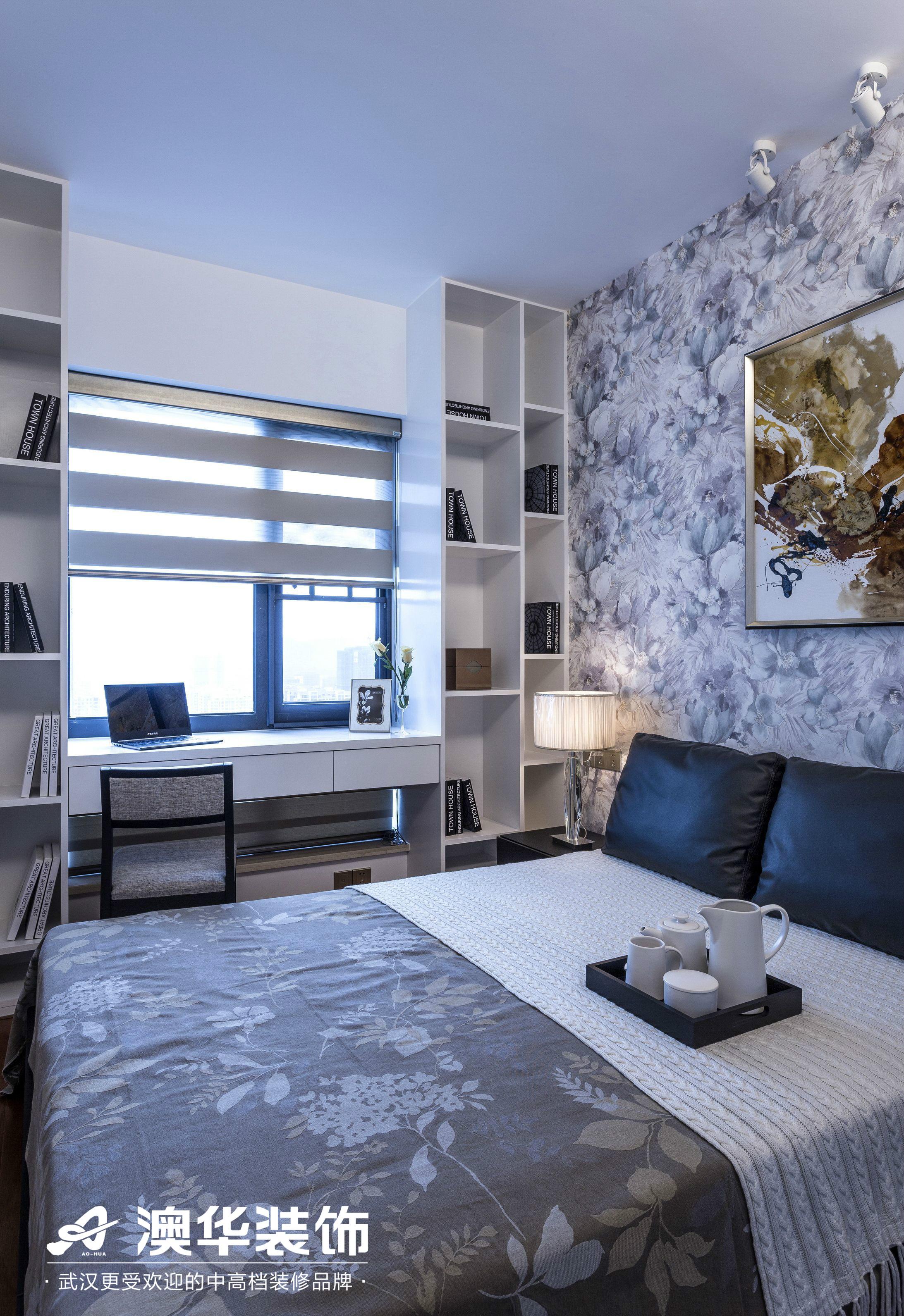 卧室图片来自澳华装饰有限公司在金地雄楚1号现代风格的分享