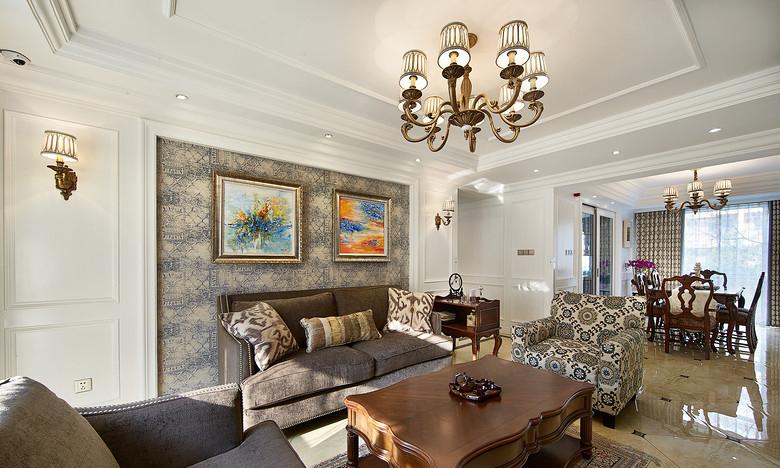 客厅图片来自家装大管家在充满小资格调 130平美式温馨3居的分享